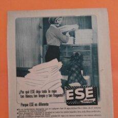 Coleccionismo de Revista Garbo: ANUNCIO PUBLICIDAD AÑO 1965 HOGAR JABÓN ESE. Lote 205475860