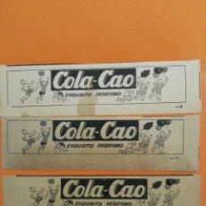 Coleccionismo de Revista Garbo: ANUNCIO PUBLICIDAD AÑO 1965 COLA CAO. Lote 205481323