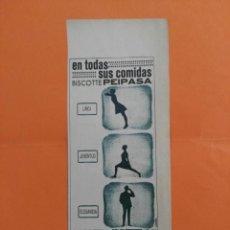 Coleccionismo de Revista Garbo: ANUNCIO PUBLICIDAD AÑO 1965 ALIMENTACIÓN BISCOTTE PEIPASA. Lote 205508865