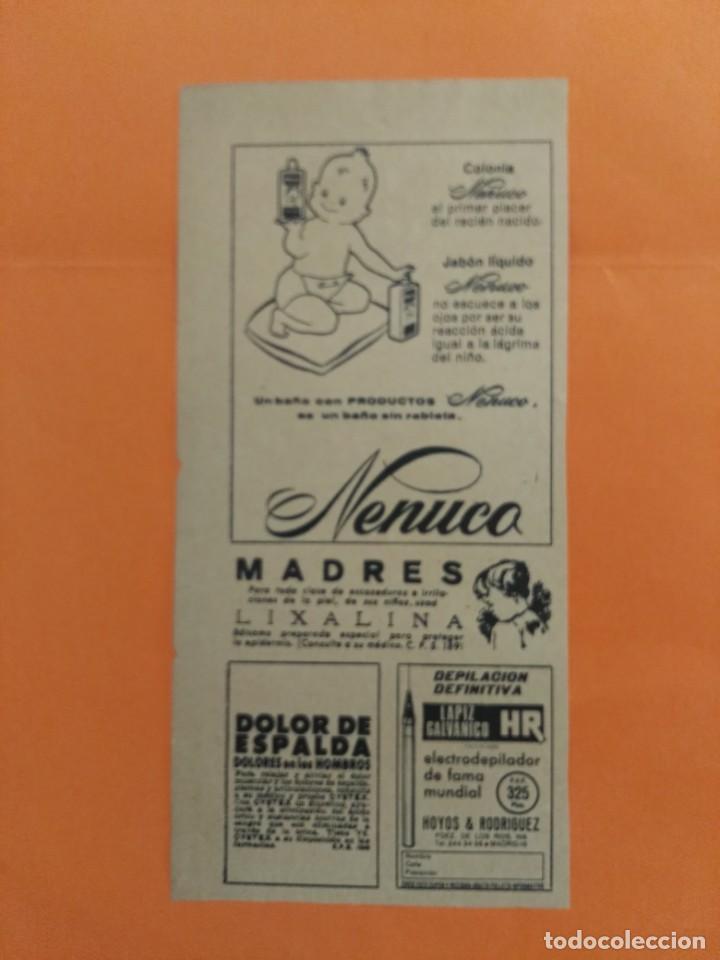 ANUNCIO PUBLICIDAD AÑO 1965 COSMÉTICA PERFUMERÍA NENUCO (Coleccionismo - Revistas y Periódicos Modernos (a partir de 1.940) - Revista Garbo)