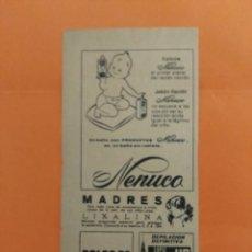 Coleccionismo de Revista Garbo: ANUNCIO PUBLICIDAD AÑO 1965 COSMÉTICA PERFUMERÍA NENUCO. Lote 205509683