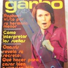 Coleccionismo de Revista Garbo: REVISTA GARBO 3 MAYO 1972 RAPHAEL,ONASIS,JORGE MISTRAL,SERRAT,CARLOS LARRAÑAGA,LUIS MORRIS,VICTOR MA. Lote 205828078