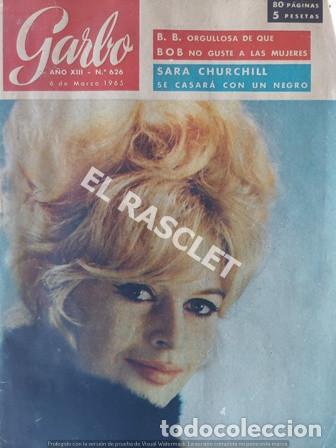 ANTIGÜA REVISTA GARBO Nº 626 - AÑO 1965 (Coleccionismo - Revistas y Periódicos Modernos (a partir de 1.940) - Revista Garbo)