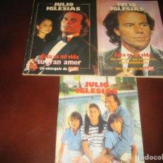 Coleccionismo de Revista Garbo: LOTE DE 3 LIBRITOS DE LA REVISTA GARBO - JULIO IGLESIAS - AÑOS 80. Lote 207316540