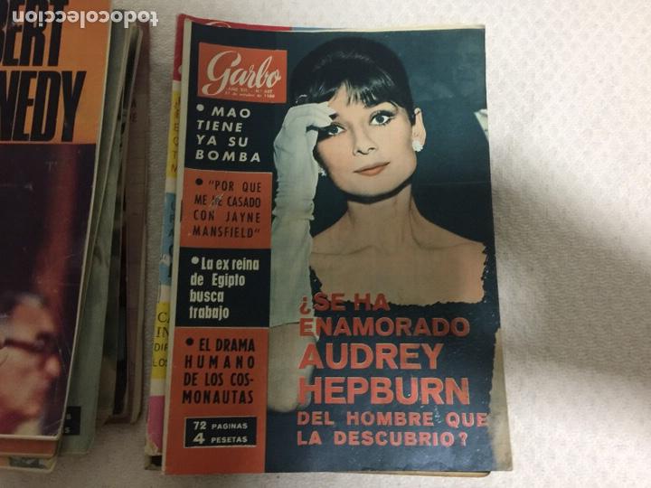 Coleccionismo de Revista Garbo: James Bond Elizabeth Taylor Audrey Hepburn lote de 75 revistas garbo - Foto 2 - 207374951