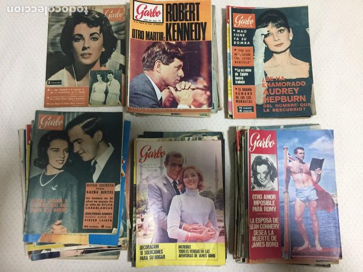 JAMES BOND ELIZABETH TAYLOR AUDREY HEPBURN LOTE DE 75 REVISTAS GARBO (Coleccionismo - Revistas y Periódicos Modernos (a partir de 1.940) - Revista Garbo)