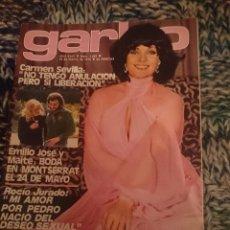 Coleccionismo de Revista Garbo: GARBO - INMA DE SANTIS - MISS EUROPA -BEATRIZ ESCUDERO - CARMEN SEVILLA - ROCIO JURADO - MASSIEL. Lote 207428171
