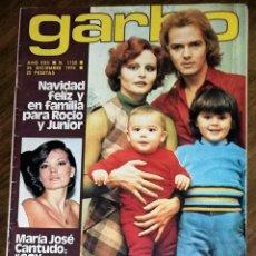 Coleccionismo de Revista Garbo: REVISTA GARBO. N.º 1130. 25 DICIEMBRE 1977. ROCIO DURCAL Y JUNIOR. MARÍA JOSÉ CANTUDO.. Lote 207451000