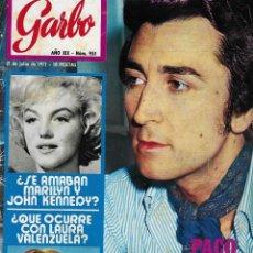 Coleccionismo de Revista Garbo: REVISTA GARBO Nº 951, PACO VALLADARES, JOHN KENNEDY Y MARILYN MONROE, JACQUELINE ONASSIS,. Lote 208041315