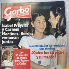 Coleccionismo de Revista Garbo: GARBO NUM 1582, 15 AGOSTO 1983. ISABEL PREYSLER. Lote 208134442