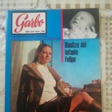 Coleccionismo de Revista Garbo: GARBO Nº 780 - BAUTIZO DEL INFANTE FELIPE DE BORBÓN / CALUDIA CARDINALE / VIETNAM CARA O CRUZ. Lote 210756402