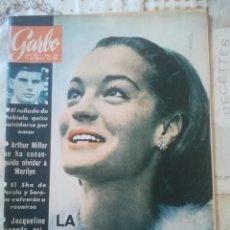 Coleccionismo de Revista Garbo: GARBO Nº 570 - LA TRISTEZA DE ROMY SCHNEIDER / ARTHUR MILLER NO HA CONSEGUIDO OLVIDAR A MARILYN. Lote 210812205