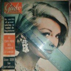 Coleccionismo de Revista Garbo: REVISTA RABO 11-NOVIEMBRE-1961 PABLO PICASSO, JUAN XXVIII, EL REY GUSTAVO DE SUECIA. Lote 211565276
