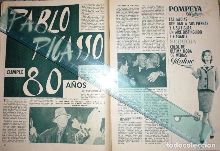 Coleccionismo de Revista Garbo: REVISTA GARBO 11-NOVIEMBRE-1961 Pablo Picasso, Juan XXVIII, el Rey Gustavo de Suecia - Foto 2 - 211565276