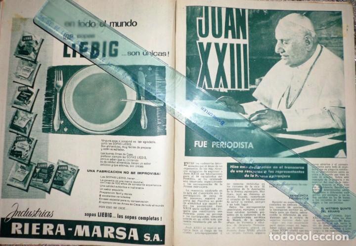 Coleccionismo de Revista Garbo: REVISTA GARBO 11-NOVIEMBRE-1961 Pablo Picasso, Juan XXVIII, el Rey Gustavo de Suecia - Foto 3 - 211565276