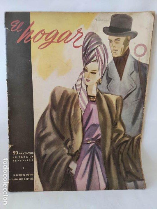 REVISTA ARGENTINA HOGAR NUM 1961, DE 1947 (Coleccionismo - Revistas y Periódicos Modernos (a partir de 1.940) - Revista Garbo)
