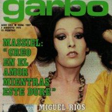 Coleccionismo de Revista Garbo: GARBO Nº 1057. MASIEL. MIGUEL RÍOS. EL CORDOBÉS. / 1 AGOSTO 1973. Lote 213518358