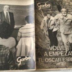 Coleccionismo de Revista Garbo: GARBO- VOLVER A EMPEZAR. Lote 214162665
