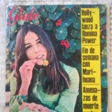 Colecionismo da Revista Garbo: GARBO Nº 712 - HOLLYWOOD LANZA A ROMINA POWER / FIN DE SEMANA CON MARIHUANA / ELIOT NESS. Lote 215249436