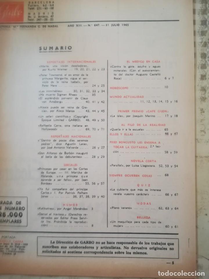 Coleccionismo de Revista Garbo: Garbo Nº 647 - Raffaella Carrá - Foto 3 - 215336245