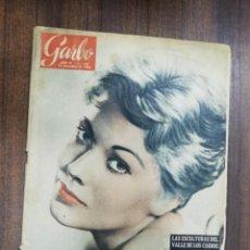 Coleccionismo de Revista Garbo: REVISTA GARBO. Nº 192. 1956. LAS ESCULTURAS DEL VALLE DE LOS CAIDOS. MARILYN MONROE, PRISIONERA.. Lote 216413403