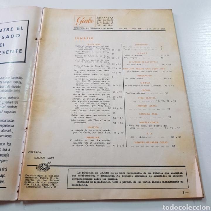 Coleccionismo de Revista Garbo: GARBO N° 800 JULIO 1968 JOHN LENNON BEATLES - BOB KENNEDY ... - Foto 2 - 217973338