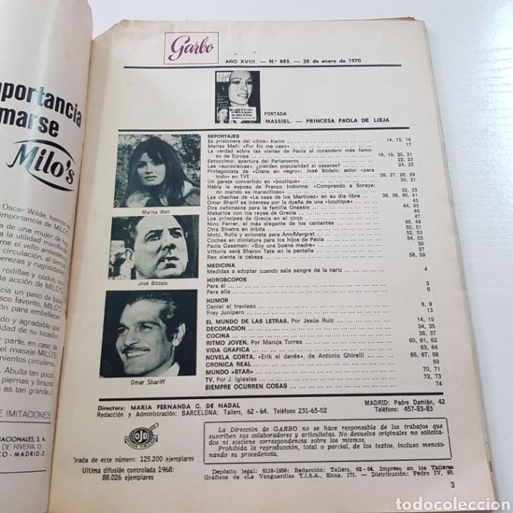 Coleccionismo de Revista Garbo: GARBO N° 882 ENERO 1970 EUROVISION MASSIEL OMAR SHARIFF JOSE BODALO MARISA MELL ... - Foto 2 - 217977082