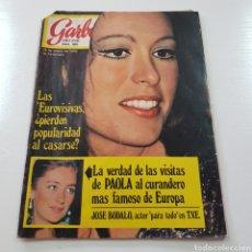 Coleccionismo de Revista Garbo: GARBO N° 882 ENERO 1970 EUROVISION MASSIEL OMAR SHARIFF JOSE BODALO MARISA MELL .... Lote 217977082