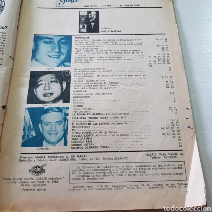 Coleccionismo de Revista Garbo: GARBO N° 904 JULIO 1970 ROCIO DURCAL Y JUNIOR MASSIEL ANDRES PAJARES ... - Foto 2 - 217977910