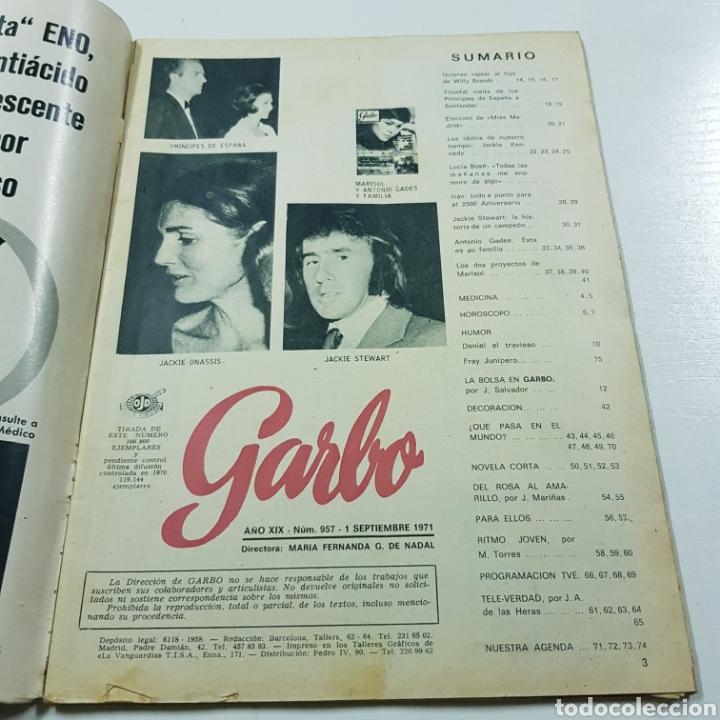 Coleccionismo de Revista Garbo: GARBO N° 957 SEPTIEMBRE 1971 MARISOL LUCIA BOSE ANTONIO GADES - Foto 2 - 218041547