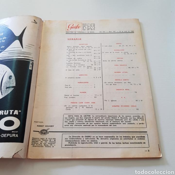Coleccionismo de Revista Garbo: GARBO N° 797 ROBERT KENNEDY - LAS MUJERS DE LOS KENNEDY - Foto 2 - 218096370