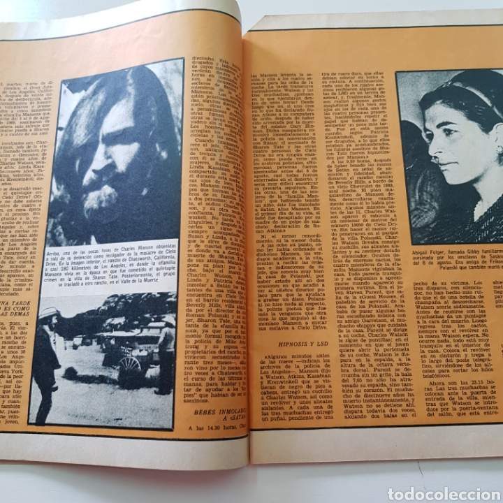Coleccionismo de Revista Garbo: GARBO N° 887 DICIEMBRE 1969 CHARLES MANSON SHARON TATE ROCIO DURCAL JUNIOR JOHN LENON YOKO ONO - Foto 4 - 218099052