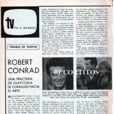 Coleccionismo de Revista Garbo: SCANS ROBERT CONRAD. Lote 218571211
