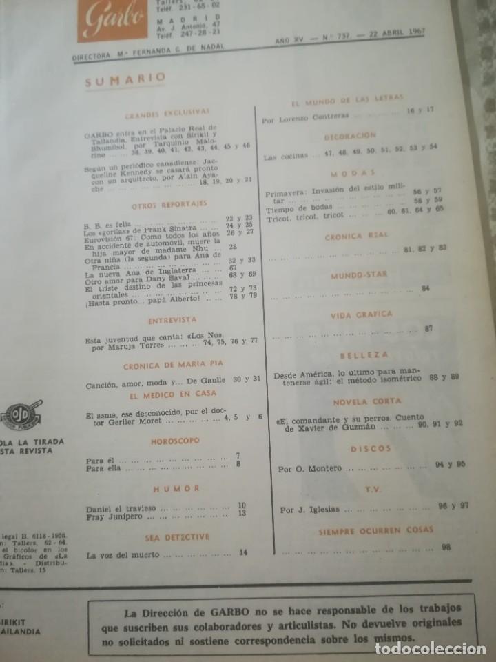 Coleccionismo de Revista Garbo: Garbo Nº 737 - Palacio Real de Tailandia - Foto 3 - 222359678