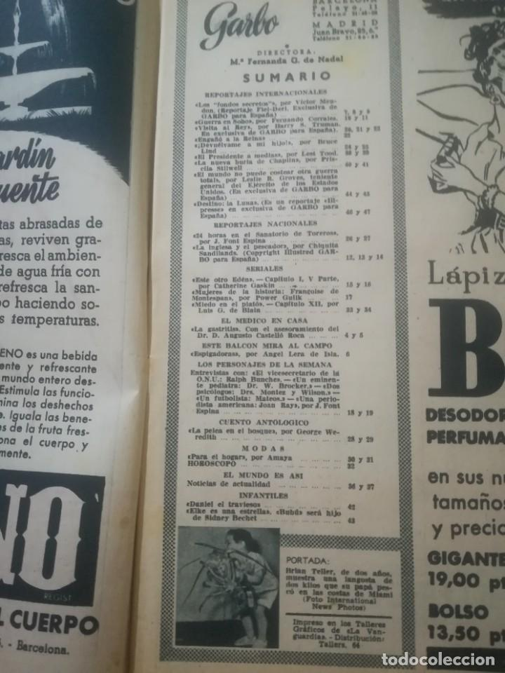 Coleccionismo de Revista Garbo: Garbo Nº 175 - El rapto del niño Weimberger - Foto 8 - 222361225