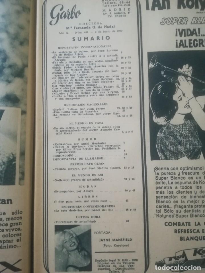 Coleccionismo de Revista Garbo: Garbo Nº 481 - Jayne Mansfield - Foto 3 - 222364051