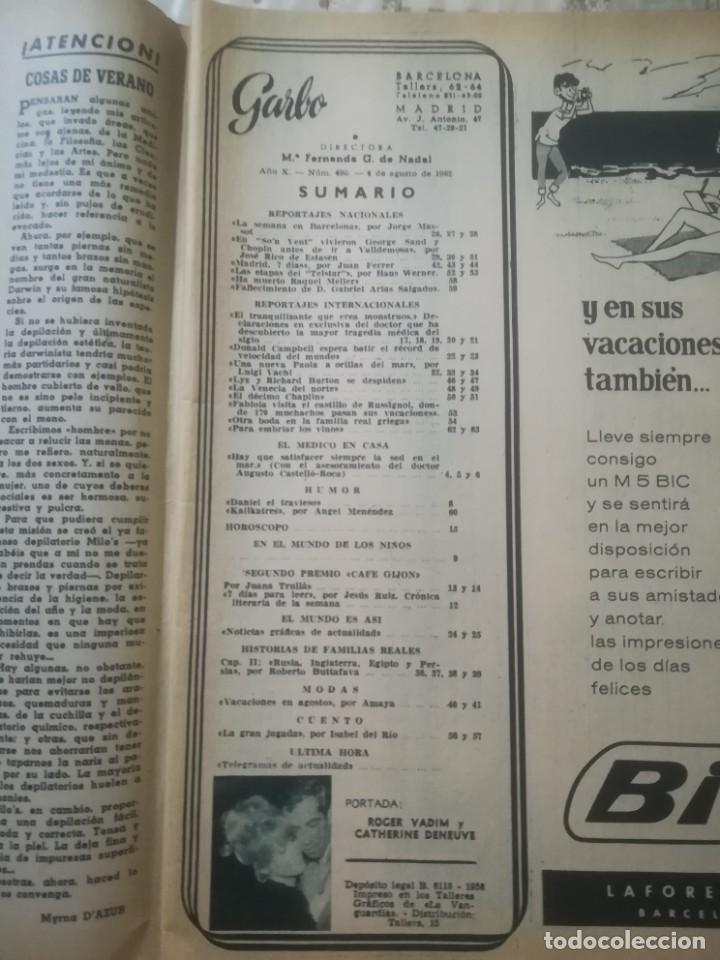 Coleccionismo de Revista Garbo: Garbo Nº 490 - El tranquilizante que crea monstruos - Foto 5 - 222365052