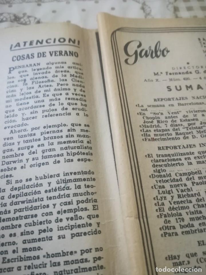 Coleccionismo de Revista Garbo: Garbo Nº 490 - El tranquilizante que crea monstruos - Foto 6 - 222365052
