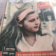 Coleccionismo de Revista Garbo: REVISTA GARBO N 376. AÑO 1960. Lote 222733455