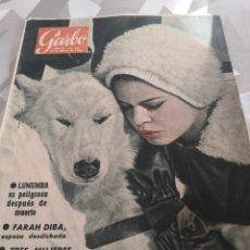 Coleccionismo de Revista Garbo: REVISTA GARBO N 415 AÑO 1961. BRIGITTE BARDOT PORTADA. MARILYN MONROE 7 FOTOS 2 PAG. Lote 222735217