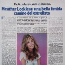 Colecionismo da Revista Garbo: RECORTE REVISTA GARBO Nº 1563 1983 HEATHER LOCKLEAR 2 PGS. Lote 223682402