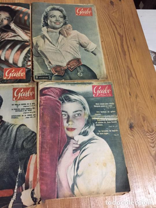 Coleccionismo de Revista Garbo: Antiguo gran lote de 20 revista / revistas Garbo año 1954 varios años - Foto 2 - 230631395