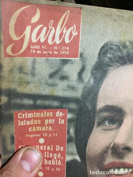 Coleccionismo de Revista Garbo: Antiguo gran lote de 20 revista / revistas Garbo año 1958 varios años - Foto 15 - 230631615