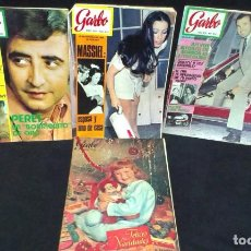 Coleccionismo de Revista Garbo: LOTE DE 4 REVISTAS GARBO - PERET - MASSIEL - 50 -60 - 70. Lote 231080245