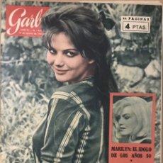 Coleccionismo de Revista Garbo: REVISTA GARBO 492 - PORTADA CLAUDIA CARDINALE - TESTAMENTO SECRETO MARILYN MONROE - 1962. Lote 234688405