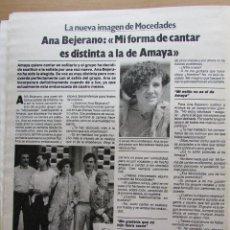 Collectionnisme de Magazine Garbo: RECORTE REVISTA GARBO N.º 1683 1985 ANA BEJERANO. MOCEDADES. Lote 235419060