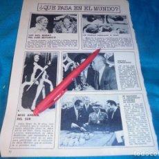 Collectionnisme de Magazine Garbo: RECORTE : MISS AFRICA DEL SUR. SANTANA. GARBO, NVMBRE 1971 (#). Lote 239877215
