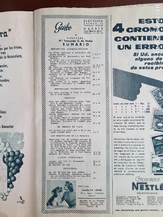 Coleccionismo de Revista Garbo: Revista Garbo nº 160 - 7 de Abril de 1956 - Foto 2 - 242402570