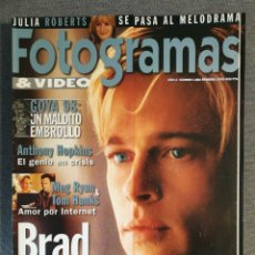 Coleccionismo de Revista Garbo: REVISTA FOTOGRAMAS N.º 1864 1999 BRAD PITT, ANTHONY HOPKINS, JULIA ROBERTS, WILL SMITH, GARY ROSS. Lote 244559585