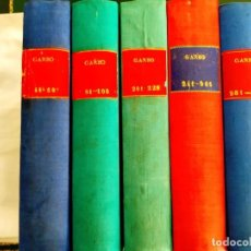 Coleccionismo de Revista Garbo: REVISTA GARBO - TOMOS 1953 - 1958. Lote 244562190